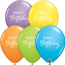Simply Happy Birthday Balloons (Assorted) - 11 Inch Balloons 25pcs